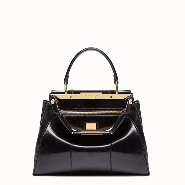 FENDI PEEKABOO ICONIC MEDIUM - Sac en cuir noir - view 1 small thumbnail