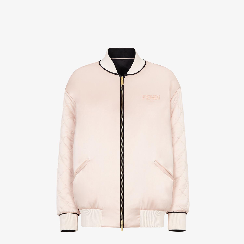 FENDI JACKET - Pink silk bomber jacket - view 1 detail