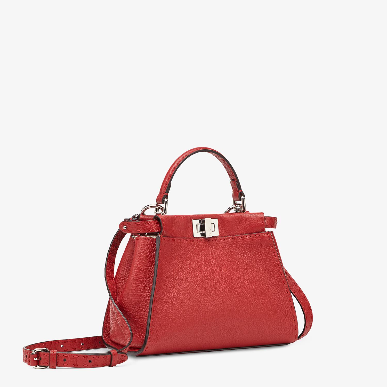 FENDI PEEKABOO ICONIC MINI - Red leather bag - view 2 detail