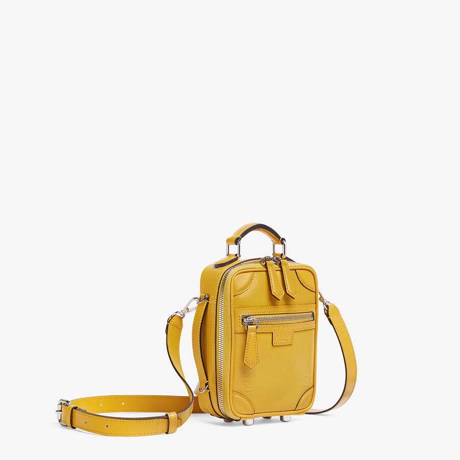 FENDI TRAVEL MINI BAG - Yellow leather bag - view 2 detail