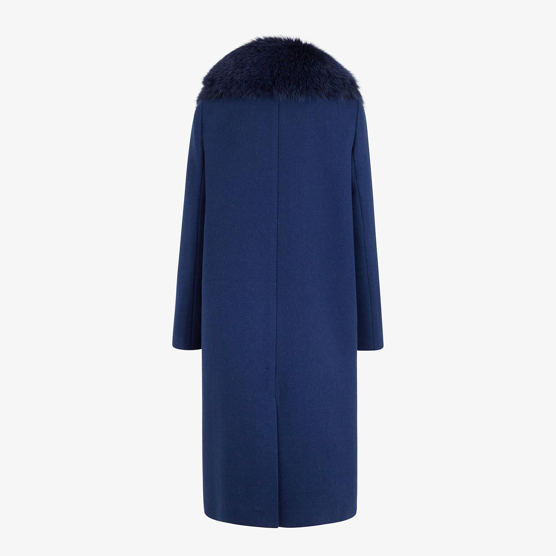 FENDI SOPRABITO - Cappotto in lana blu - vista 2 dettaglio