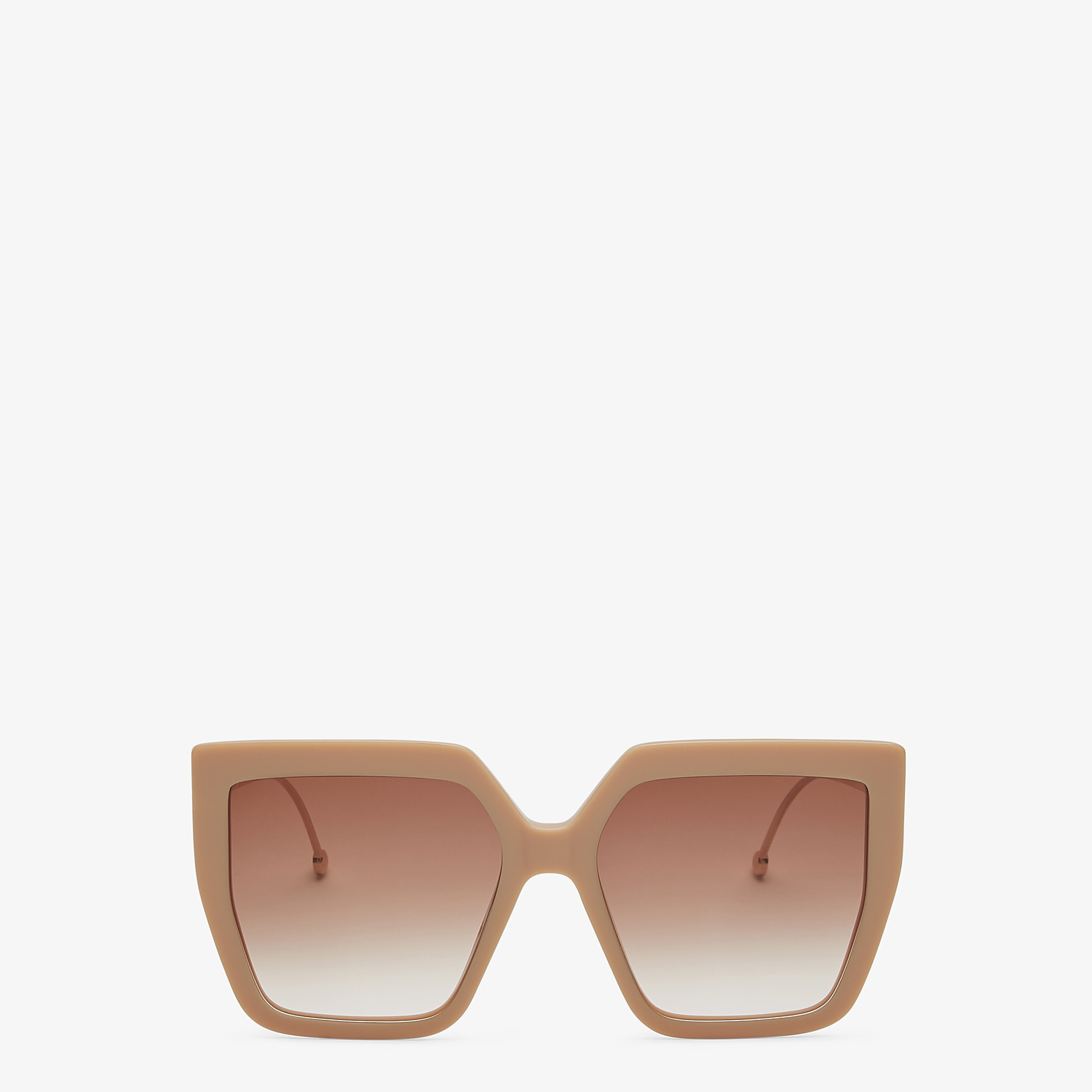 FENDI F IS FENDI - Beige acetate and metal sunglasses - view 1 detail