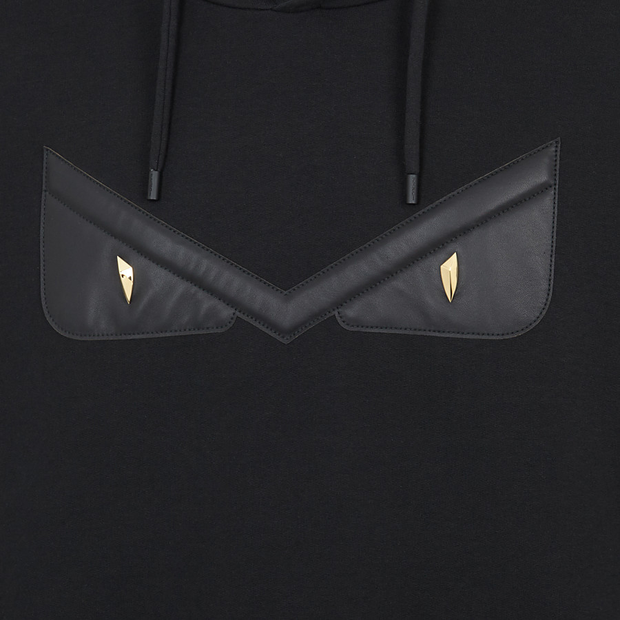 FENDI SWEATSHIRT - Black cotton jersey sweatshirt. - view 3 detail