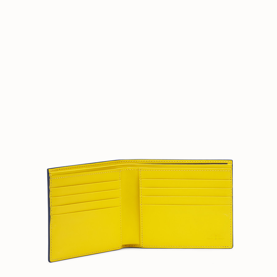FENDI BI-FOLD WALLET - Multicolor leather bi-fold wallet - view 3 detail
