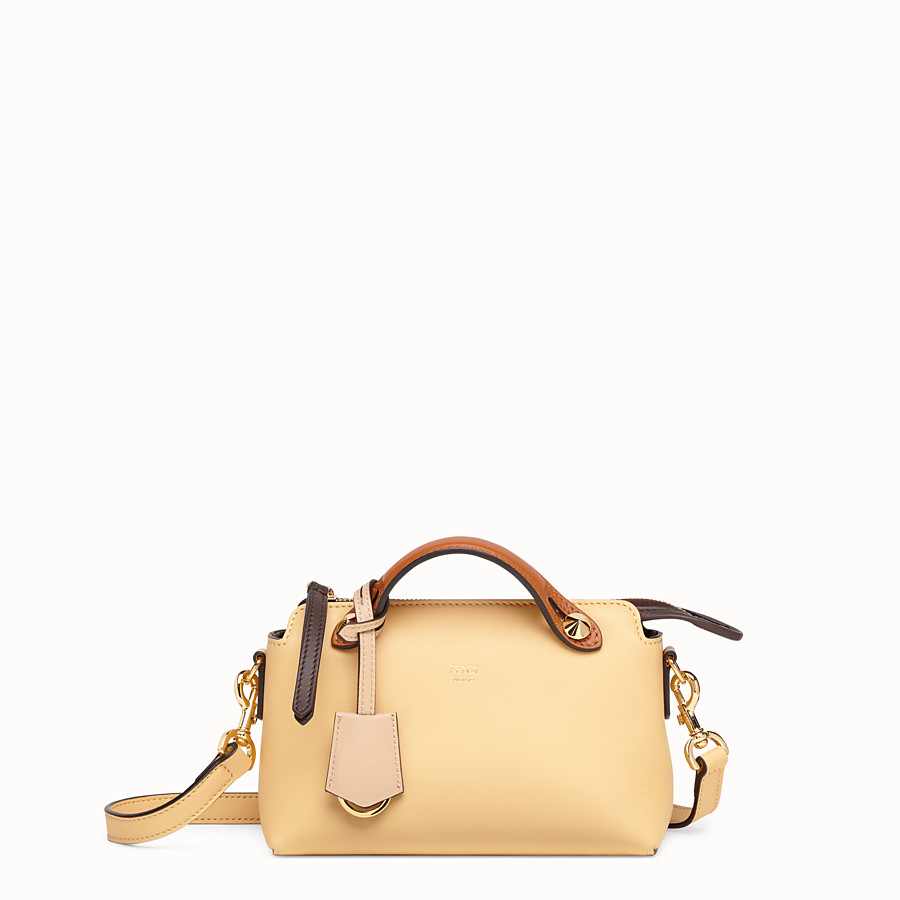 FENDI BY THE WAY MINI - Yellow leather small Boston bag - view 1 detail