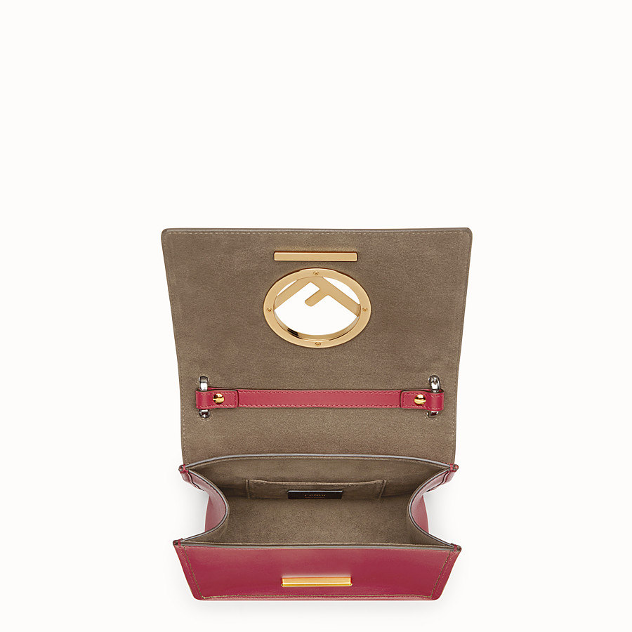 FENDI KAN I F SMALL - Red leather mini-bag - view 4 detail