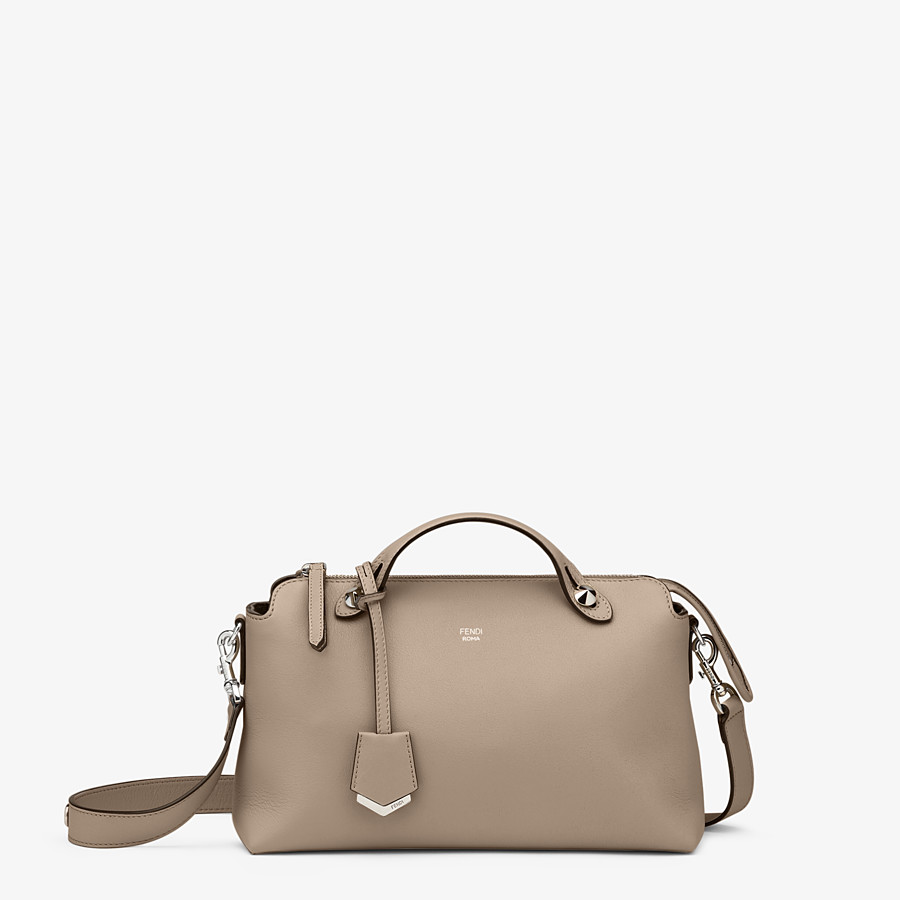 FENDI BY THE WAY MEDIUM - Small Boston bag in beige leather - view 1 detail