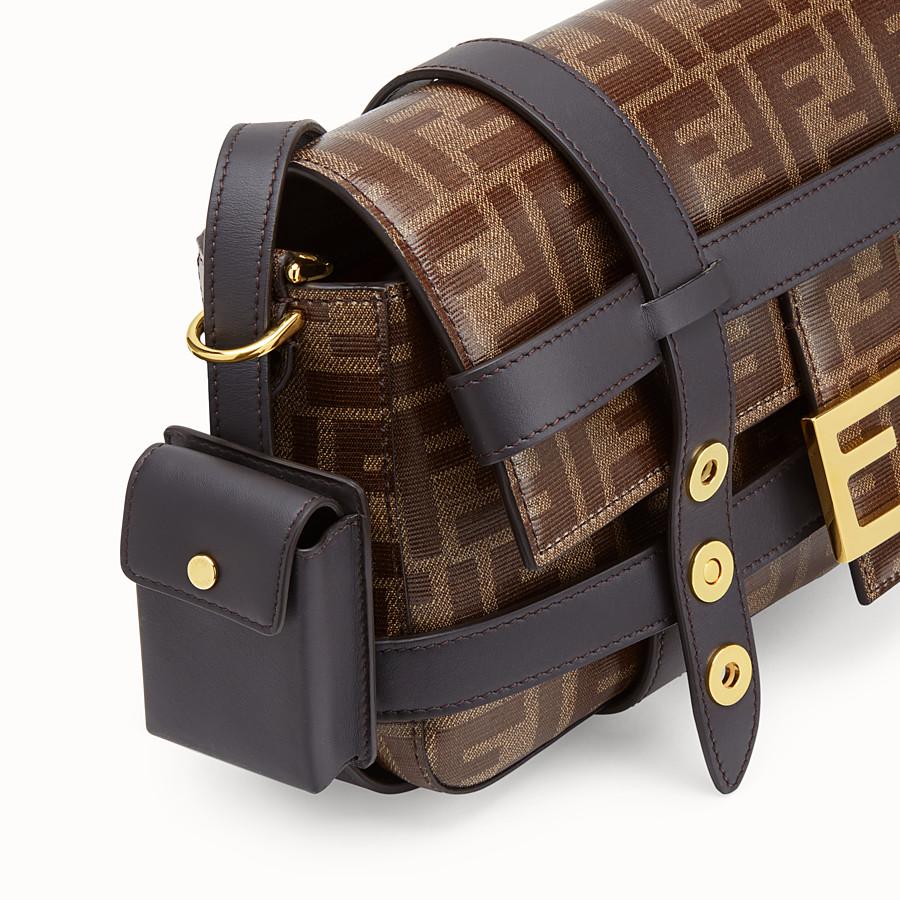FENDI BAGUETTE CAGE - Borsa in tessuto marrone - vista 7 dettaglio