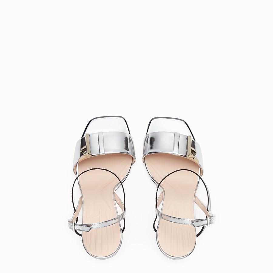 FENDI SANDALS - Silver leather sandals - view 4 detail