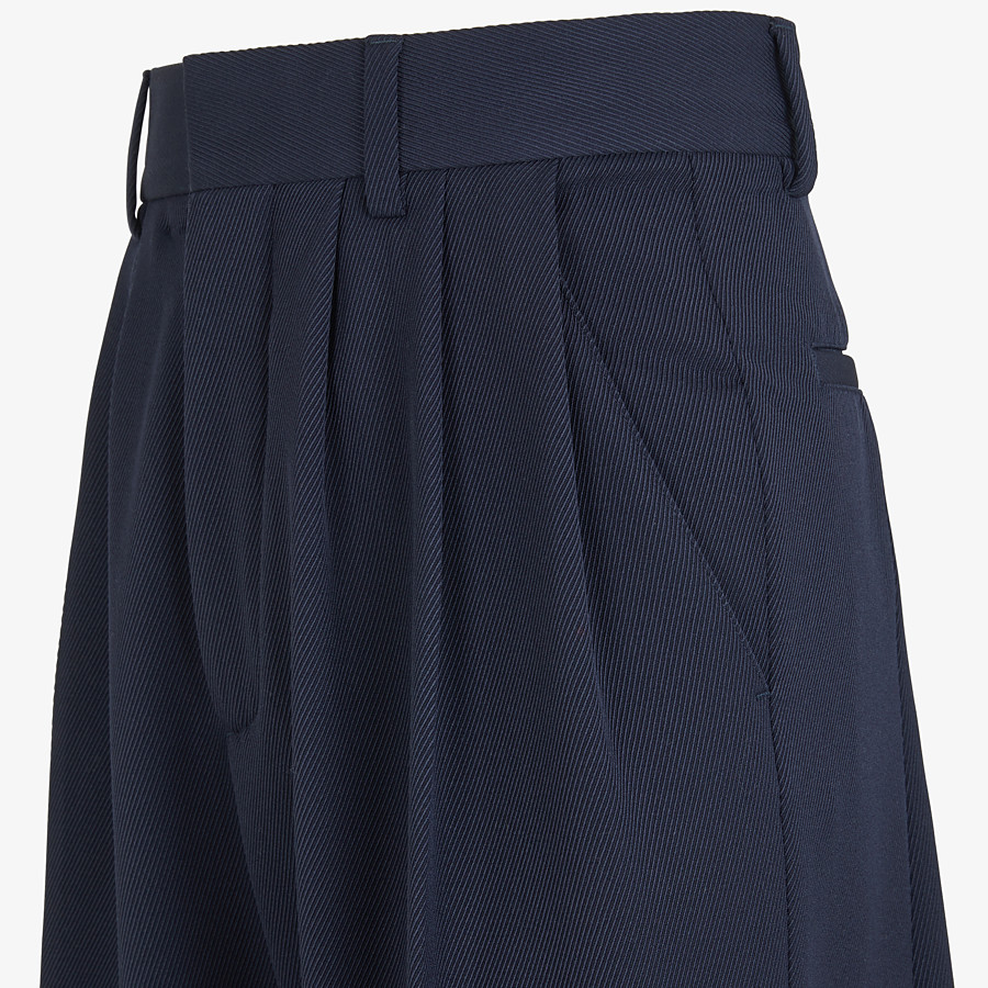 FENDI TROUSERS - Blue wool trouser skirt - view 3 detail