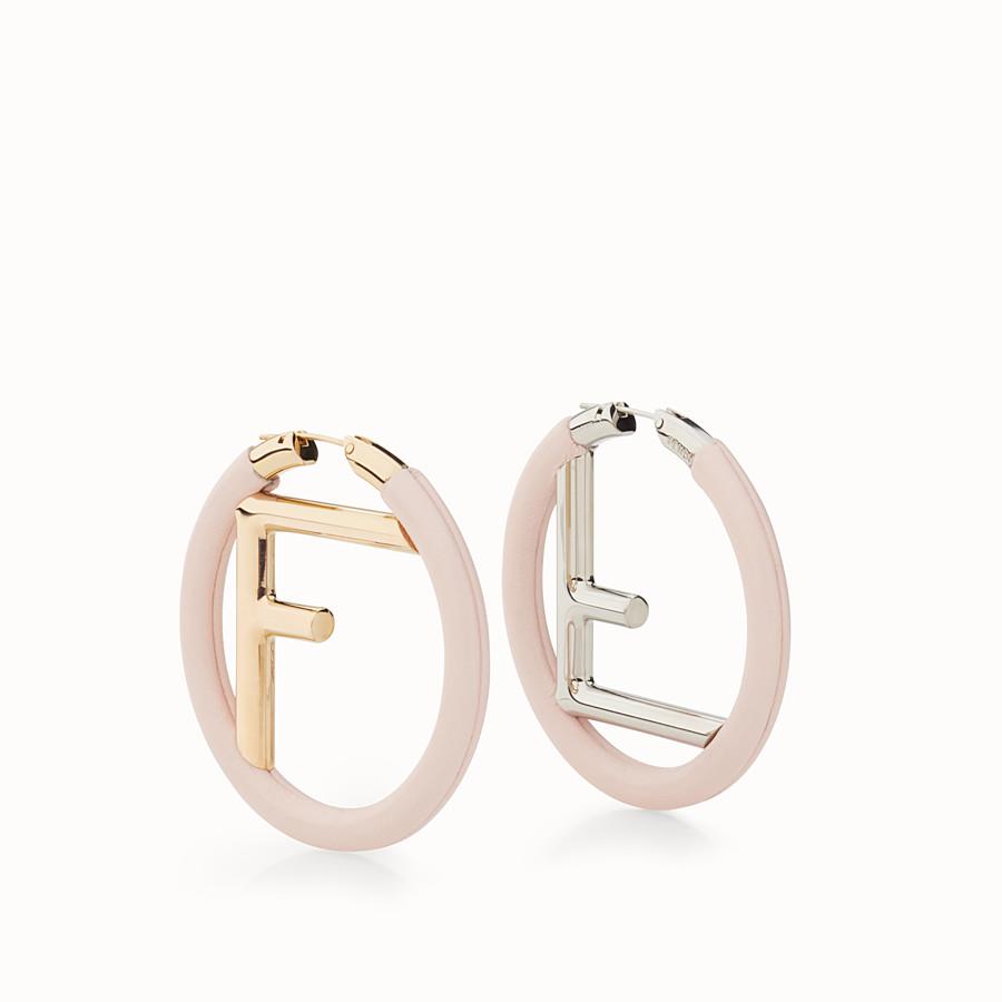 FENDI F IS FENDI 耳環 - 粉紅色納帕皮革耳環 - view 1 detail