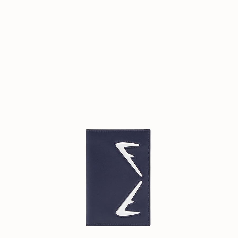 FENDI CARD HOLDER - Blue leather wallet - view 1 detail