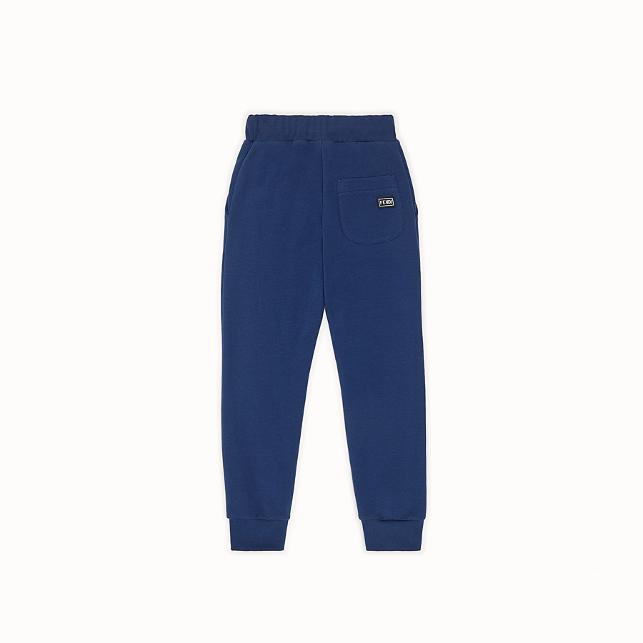 FENDI TROUSERS - Blue sweatshirt-fleece tracksuit trousers - view 2 detail