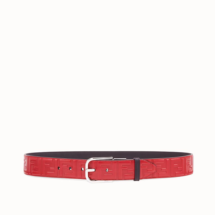 FENDI BELT - Red leather belt - view 1 detail
