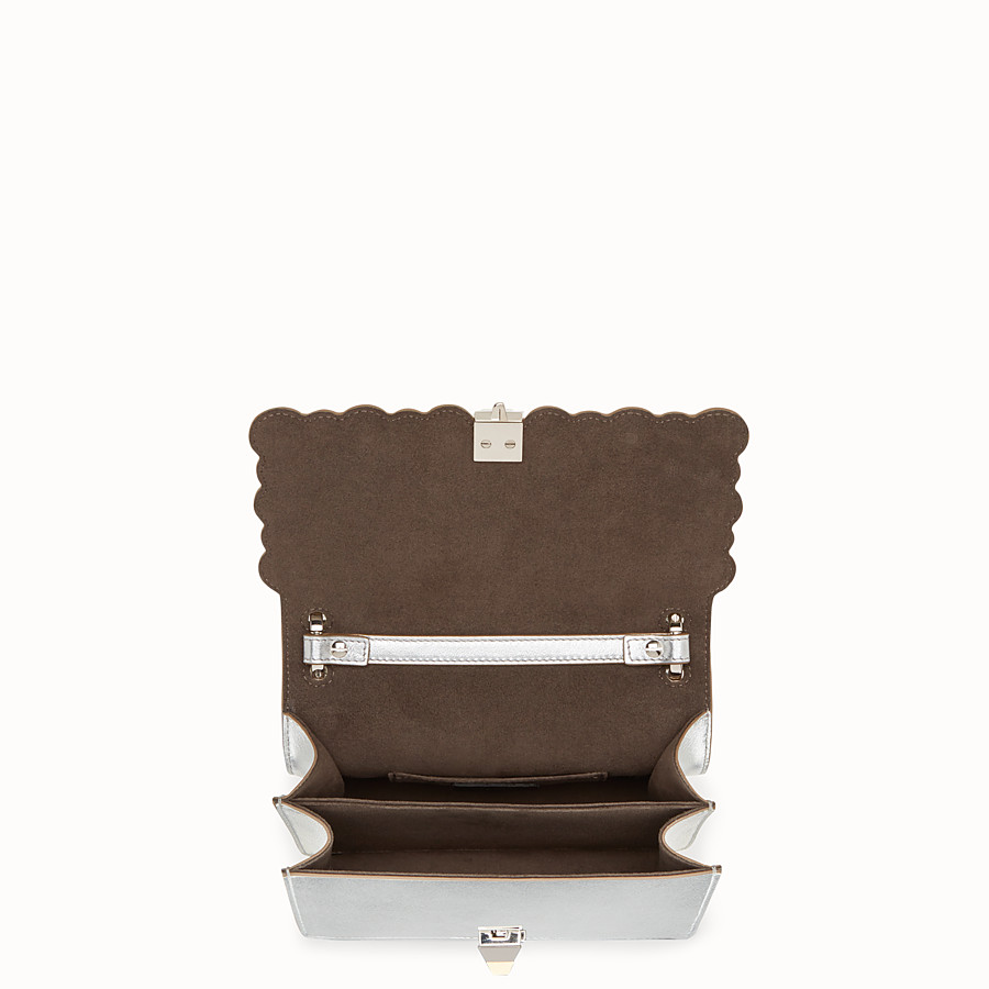 FENDI KAN I SMALL - Silver leather mini-bag - view 4 detail