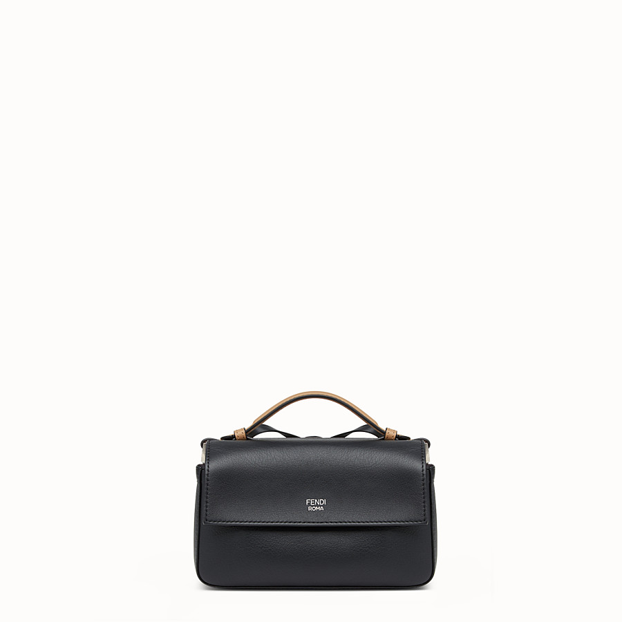 FENDI DOUBLE MICRO BAGUETTE - Micro bag in multicoloured leather - view 3 detail