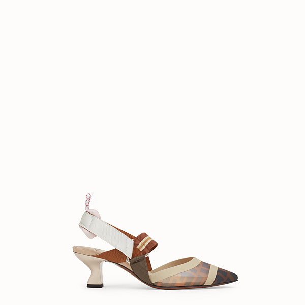 FENDI SLINGBACK - Multicolour technical-mesh colibrì - view 1 small thumbnail