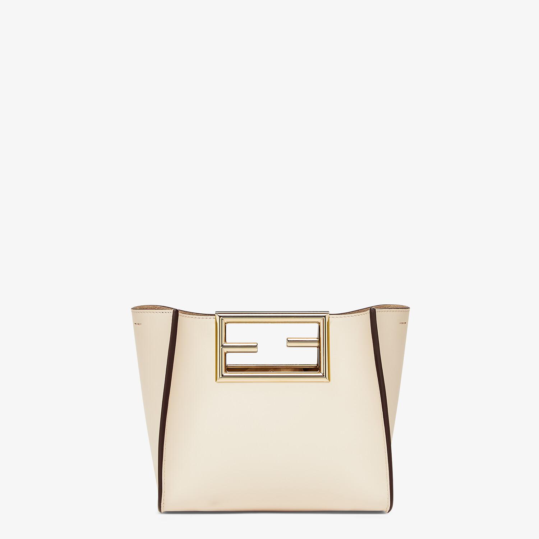 FENDI FENDI WAY SMALL - White leather bag - view 1 detail