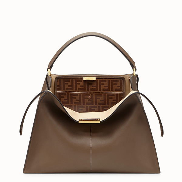 FENDI PEEKABOO X-LITE LARGE - Brown leather bag - view 1 small thumbnail