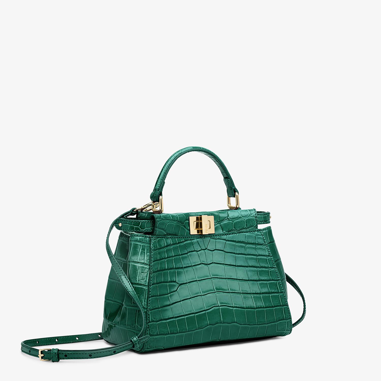 FENDI PEEKABOO MINI - Green crocodile handbag - view 2 detail
