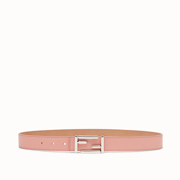 FENDI BAGUETTE BELT - in pink calfskin - view 1 small thumbnail