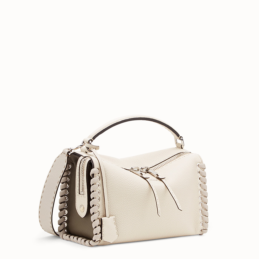 FENDI LEI SELLERIA BAG - White leather Boston bag - view 2 detail