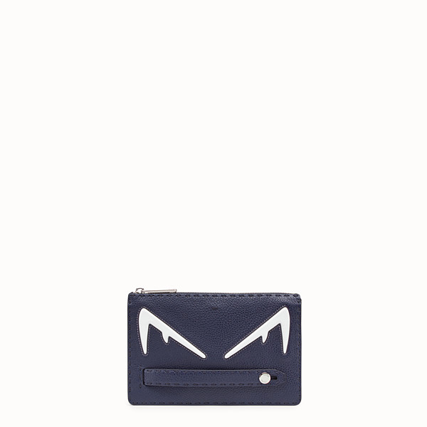 FENDI CLUTCH - Blue Romano leather pochette - view 1 small thumbnail