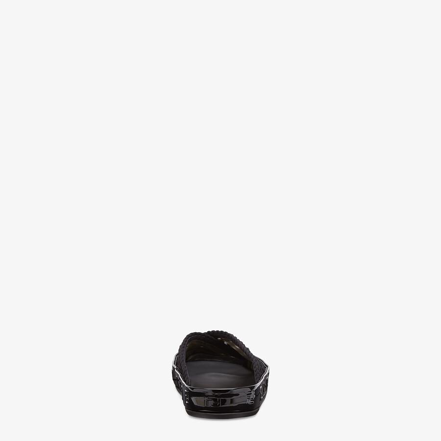 FENDI SANDALIA TIPO CHANCLA FENDI REFLECTIONS - Sandalia plana de encaje elástico negro - view 3 detail
