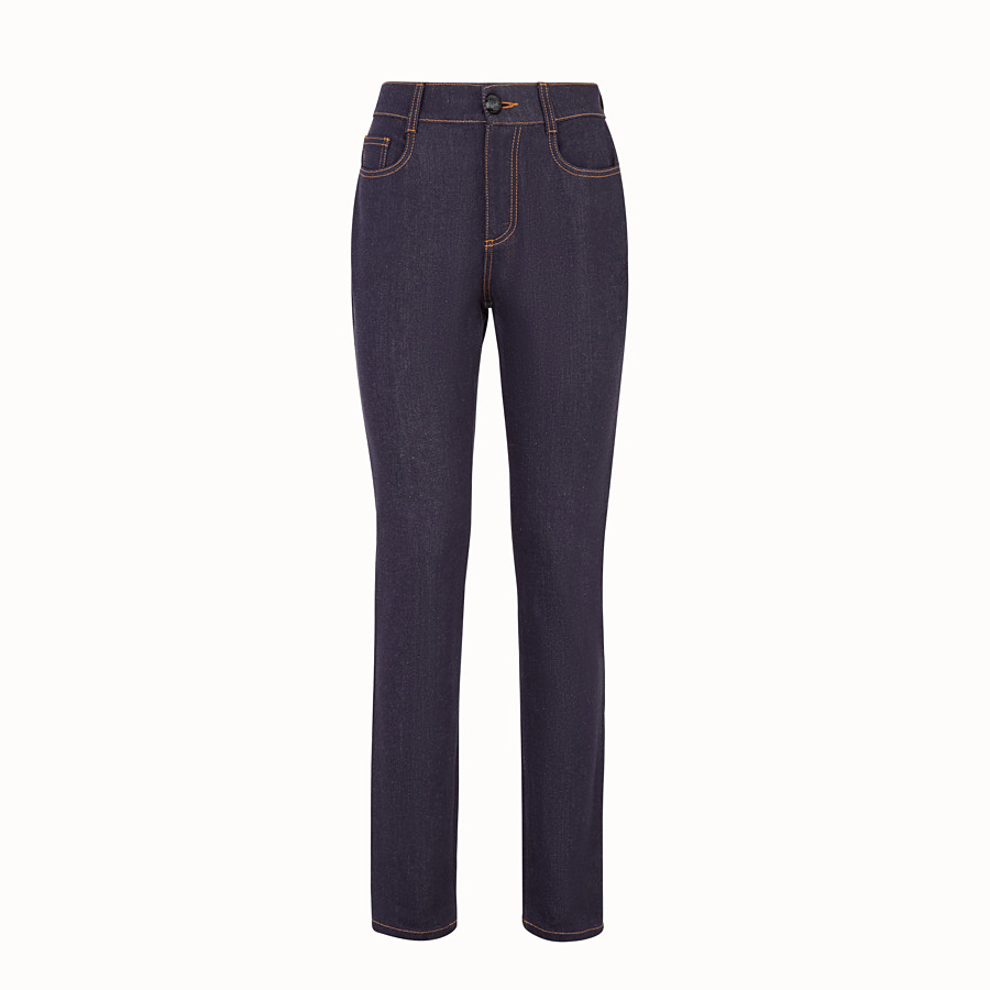 FENDI PANTS - Blue denim trousers - view 1 detail