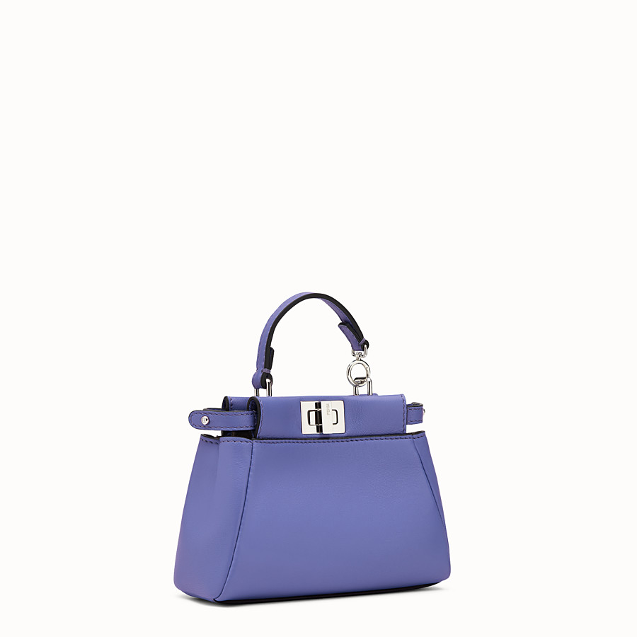 FENDI MICRO PEEKABOO - purple leather microbag - view 2 detail