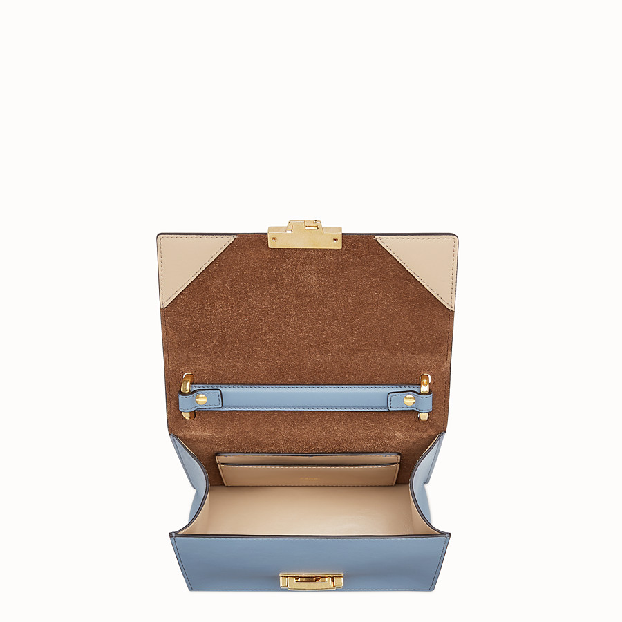 FENDI KAN U SMALL - Light blue leather mini-bag - view 5 detail