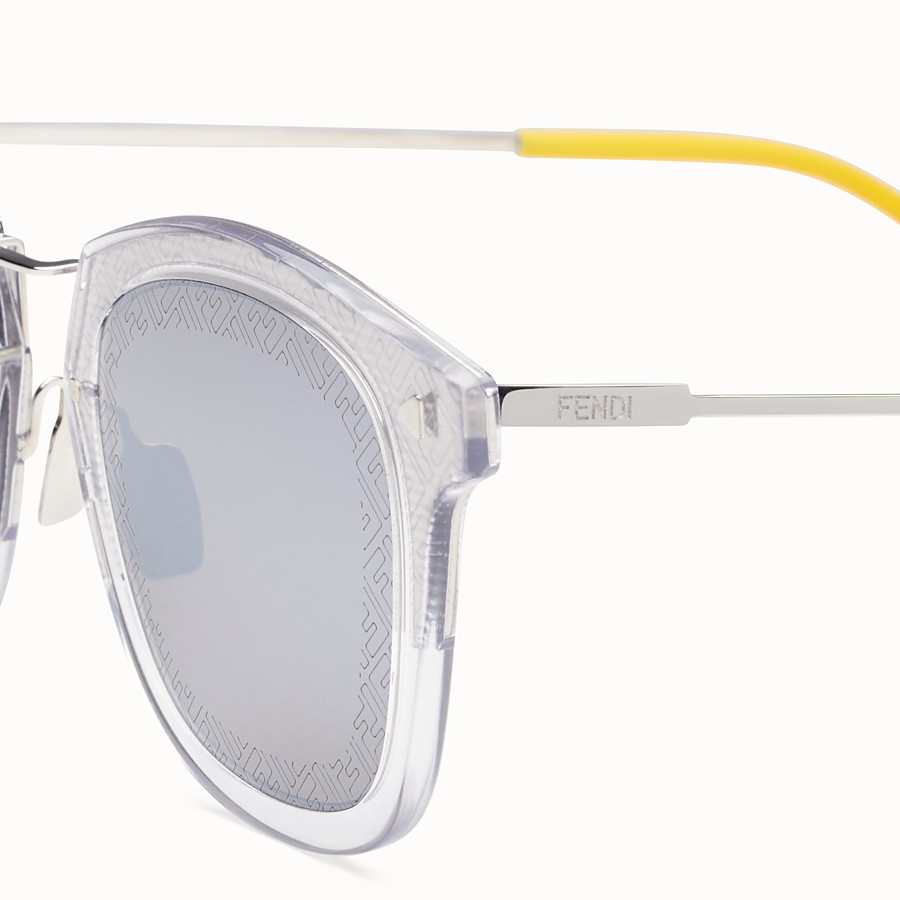 FENDI FF - Transparent and palladium sunglasses - view 3 detail