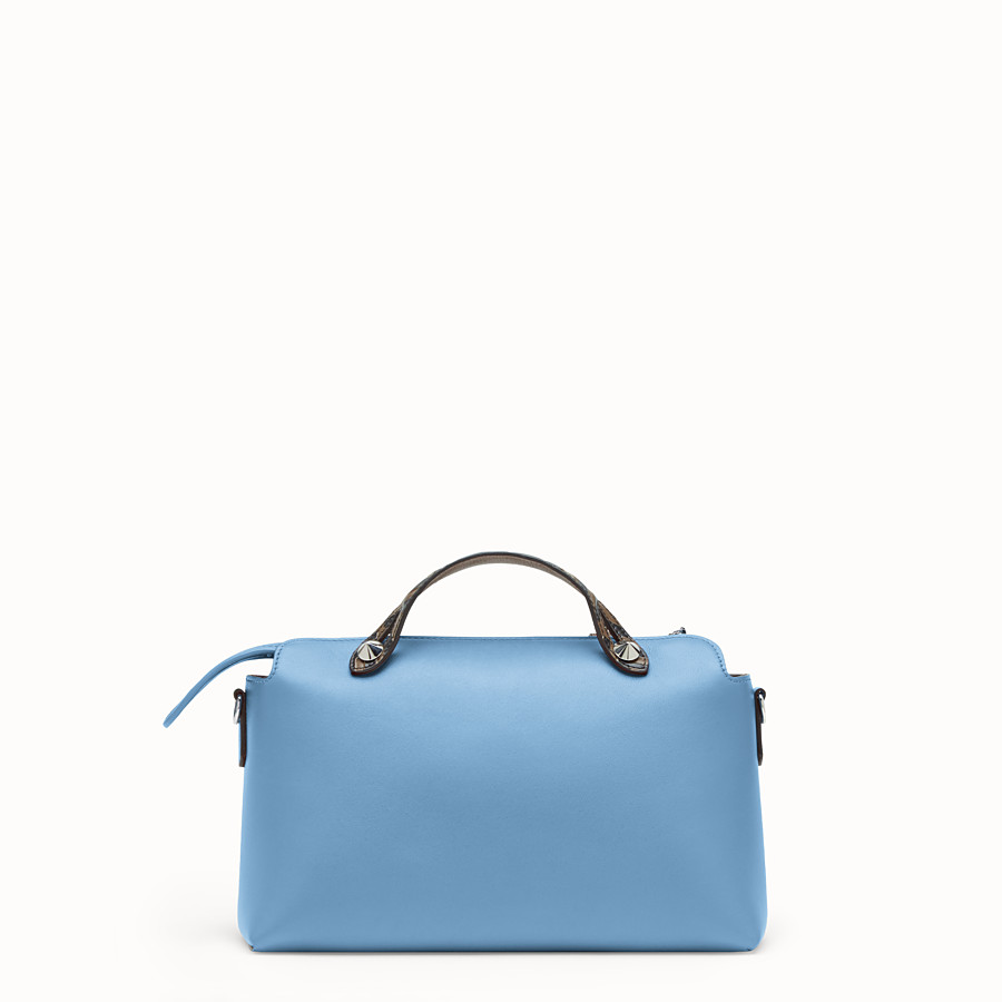 FENDI BY THE WAY REGULAR - Pale blue leather Boston bag - view 3 detail