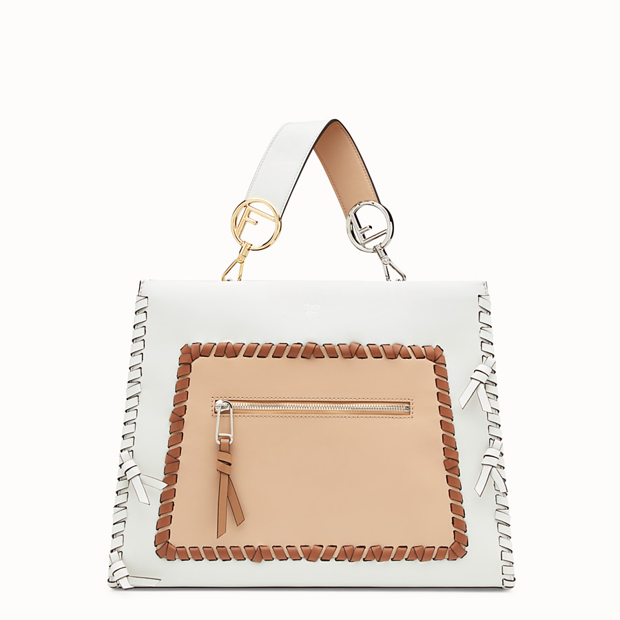 FENDI RUNAWAY REGULAR - White leather bag - view 1 detail