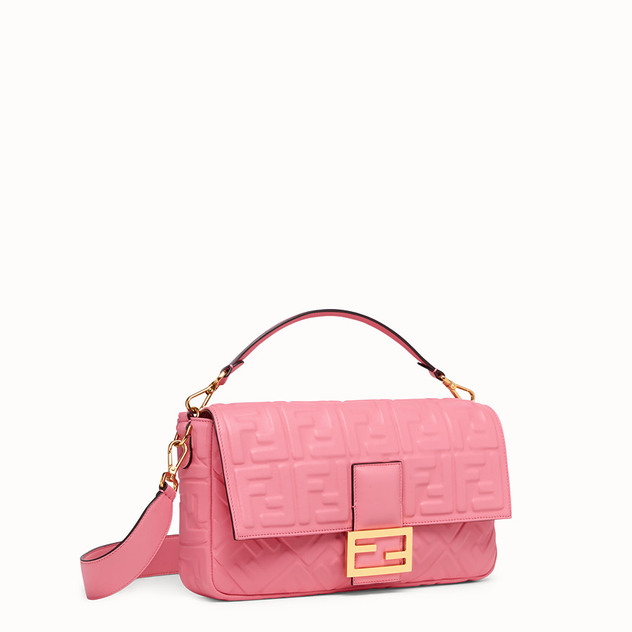 FENDI BAGUETTE GROSS - Tasche aus Leder in Rosa - view 3 detail