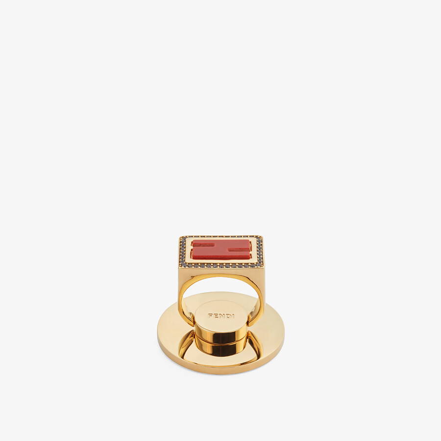 FENDI FF SMART-RING - Gold-color ring - view 1 detail