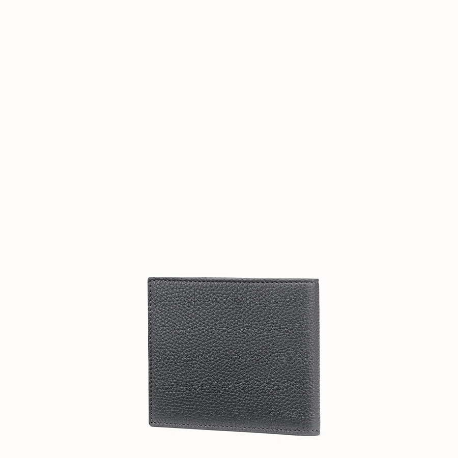 FENDI WALLET - Grey leather bi-fold wallet - view 2 detail