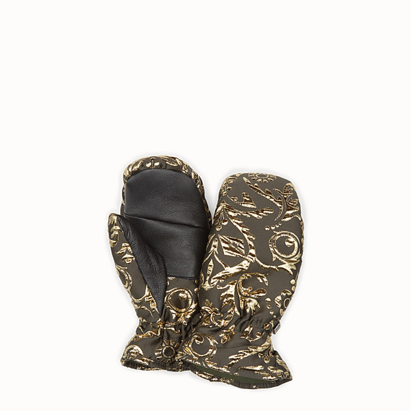 FENDI GLOVES - Mittens in gold brocade - view 1 small thumbnail