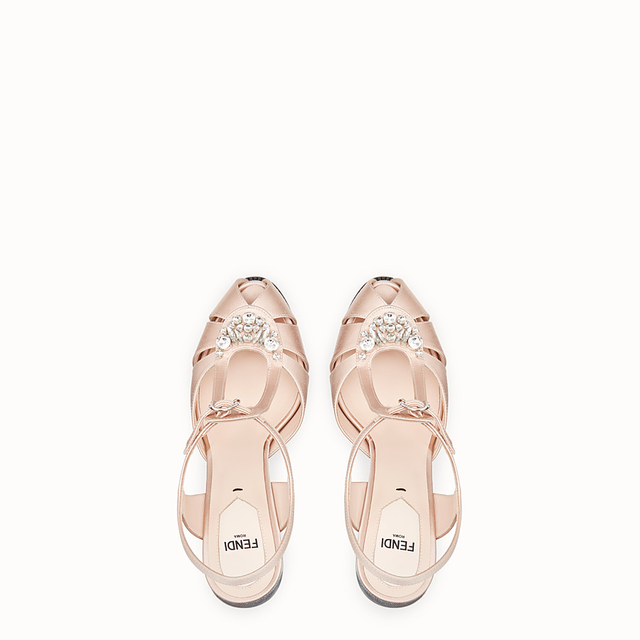 FENDI SANDALES - Sandales en satin rose - view 4 detail