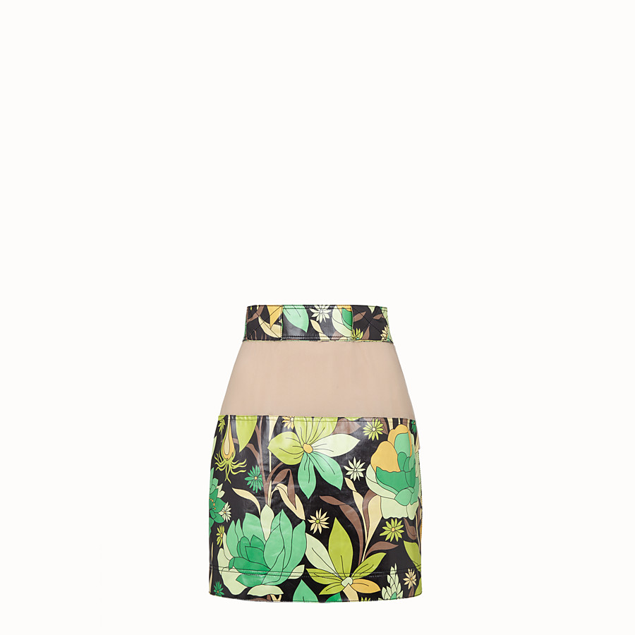 FENDI SKIRT - Multicolour cotton skirt - view 1 detail