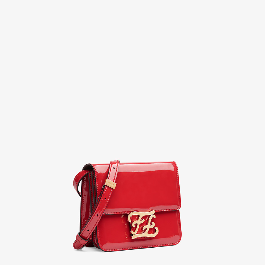 FENDI KARLIGRAPHY - Red patent leather bag - view 3 detail