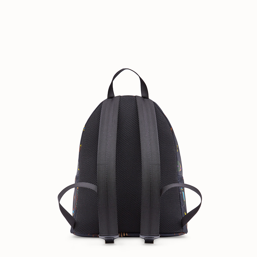 FENDI SLIM BACKPACK - Black nylon backpack - view 3 detail