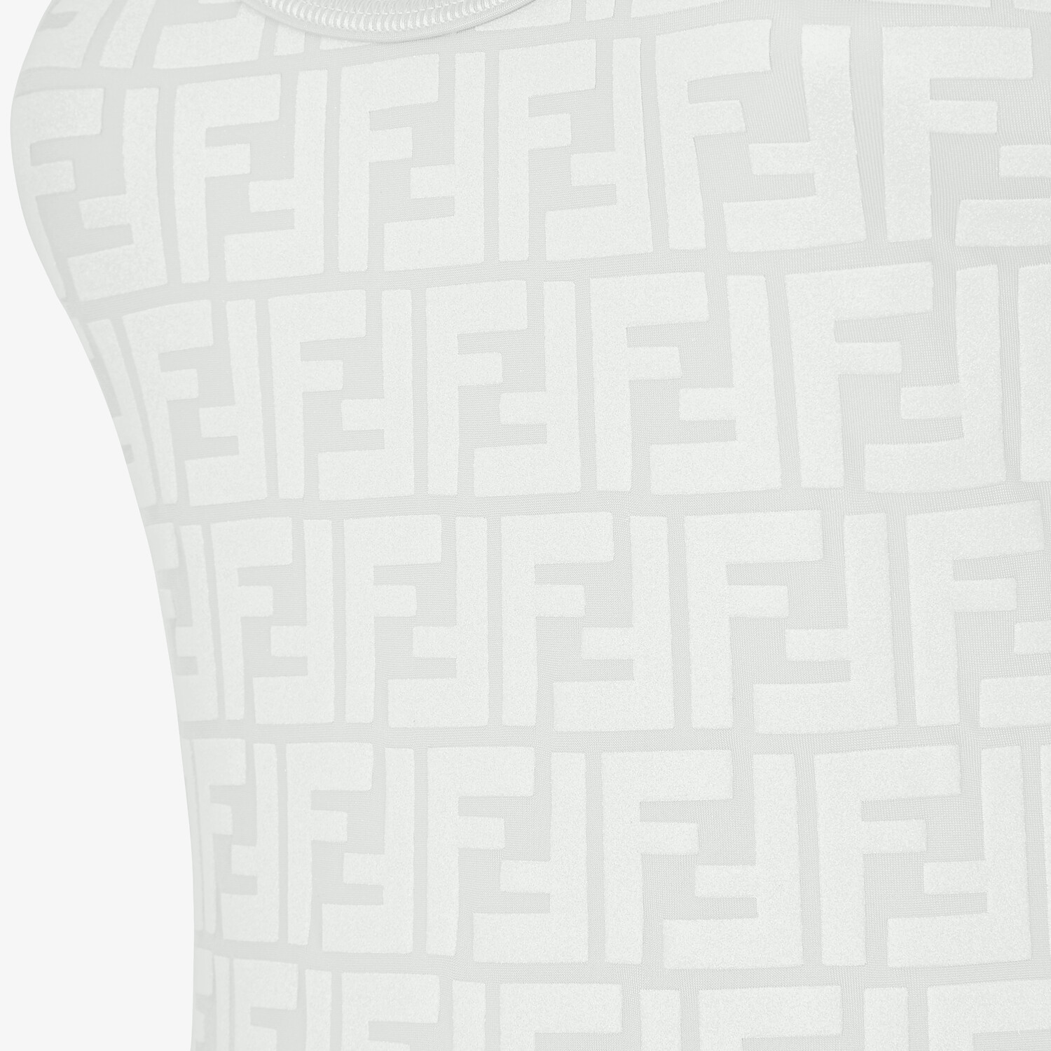 FENDI ONE-PIECE SWIMSUIT - White LYCRA® swimsuit - view 3 detail