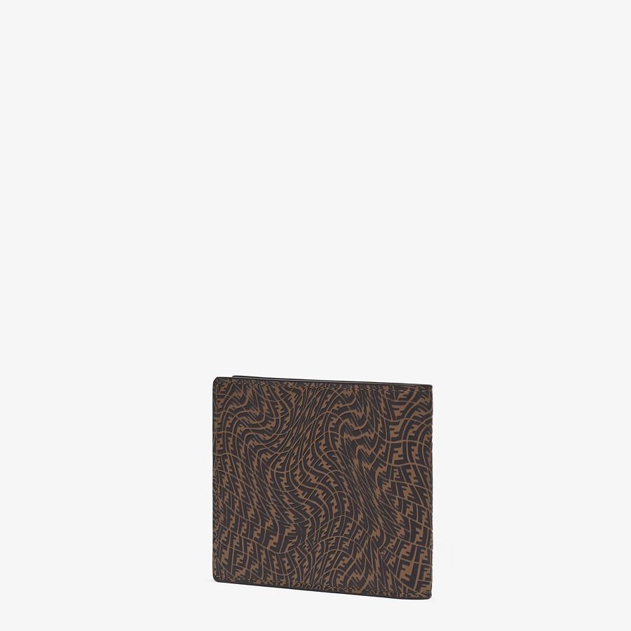 FENDI 皮夾 - 棕色皮革雙折皮夾 - view 2 detail