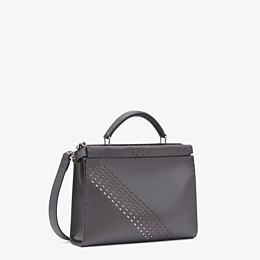 FENDI PEEKABOO ICONIC FIT MINI - Grey calf leather bag - view 2 thumbnail
