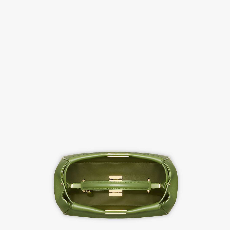 FENDI PEEKABOO MINI - Green nappa leather bag - view 5 detail