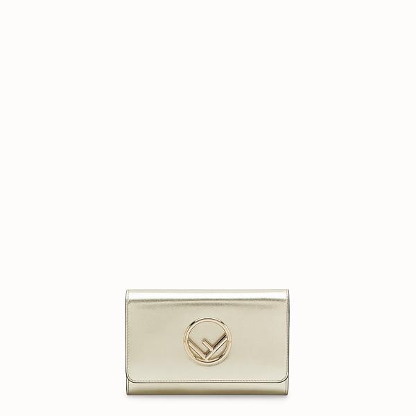 FENDI WALLET ON CHAIN - Metallic leather mini-bag - view 1 small thumbnail
