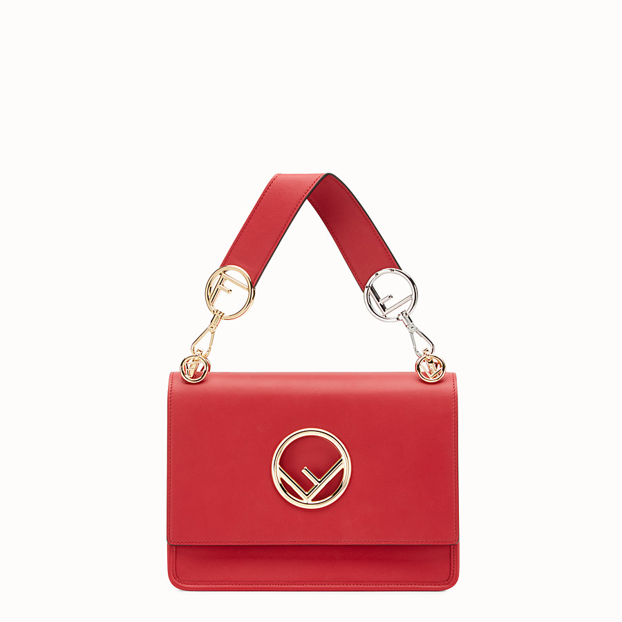 FENDI KAN I F - Red leather bag - view 1 detail