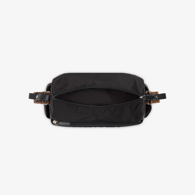 FENDI DIAPER BAG - Black leather and nylon diaper bag - view 4 detail