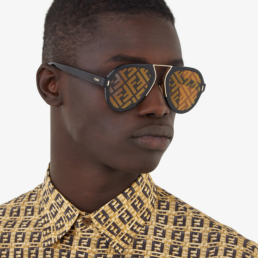 FENDI FENDI FORCE - Black sunglasses - view 4 detail
